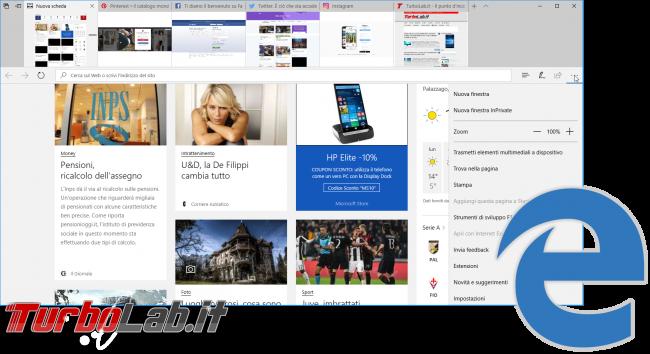 Grande Guida Windows 10 1703 (Creators Update / Redstone 2): tutte novità dettagli aggiornamento automatico - Microsoft edge windows 10 1703 creators update