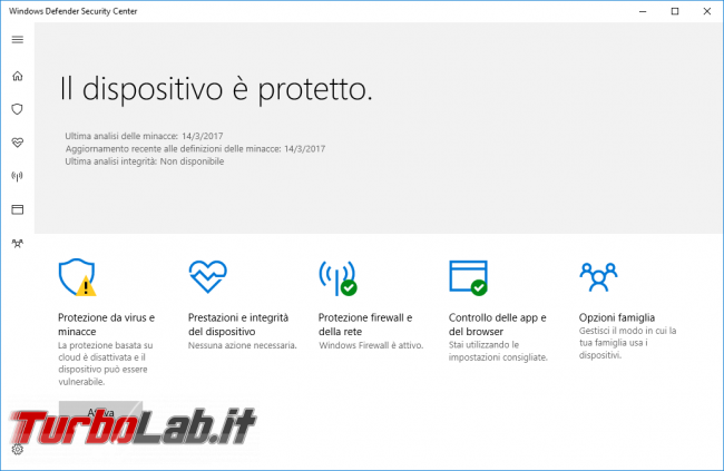 Grande Guida Windows 10 1703 (Creators Update / Redstone 2): tutte novità dettagli aggiornamento automatico - windows defender security center