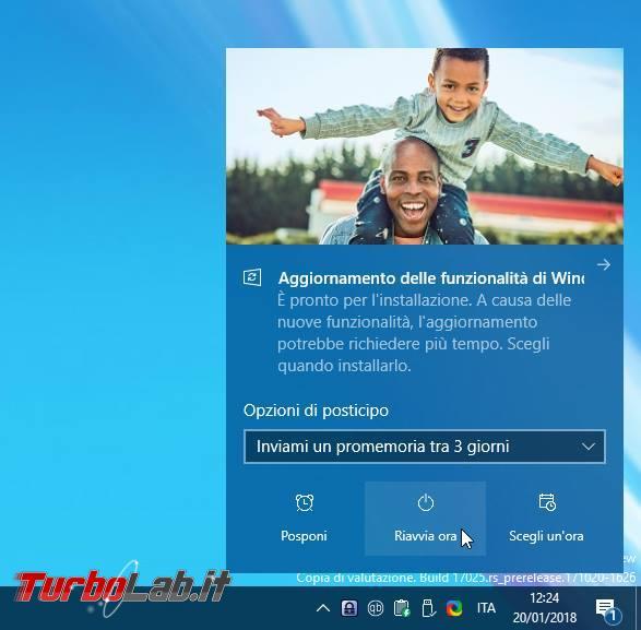 Grande Guida Windows 10 1809: tutte novità Aggiornamento Ottobre 2018 - windows update chiede riavvio