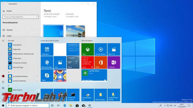 Grande Guida Windows 10 1903 (19H1): tutte novità Aggiornamento Maggio 2019 - windows 10 tema chiaro