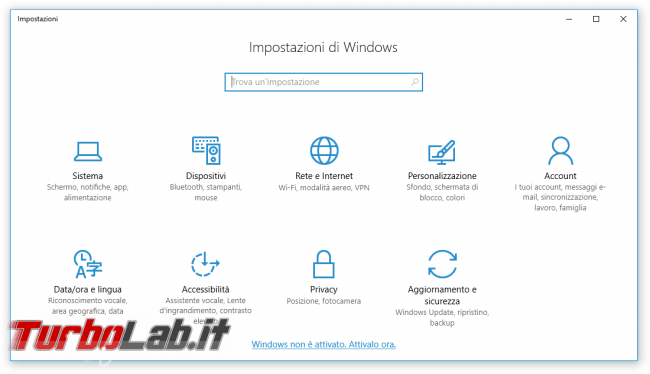 """Grande Guida Windows 10 """"Anniversary Update"""" (versione 1607, """"Redstone""""): tutto quello devi sapere - windows 10 1607 Impostazioni"""