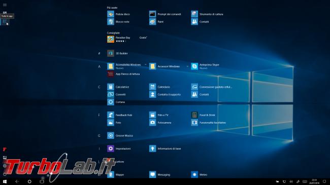 """Grande Guida Windows 10 """"Anniversary Update"""" (versione 1607, """"Redstone""""): tutto quello devi sapere - windows 10 1607 tablet mode"""