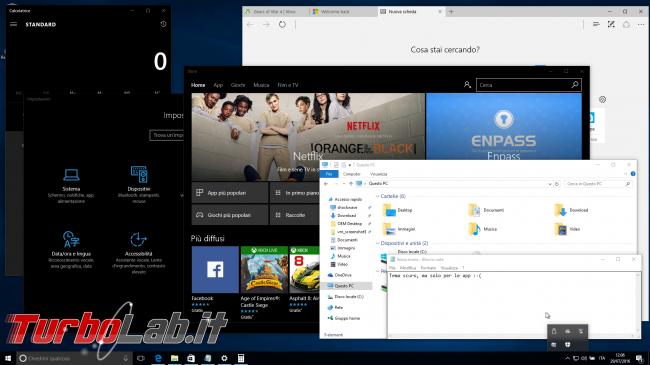 """Grande Guida Windows 10 """"Anniversary Update"""" (versione 1607, """"Redstone""""): tutto quello devi sapere - windows 10 1607 tema scuro"""