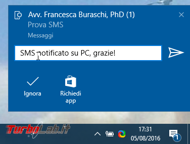 """Grande Guida Windows 10 """"Anniversary Update"""" (versione 1607, """"Redstone""""): tutto quello devi sapere - windows 1607 notifica sms da android"""