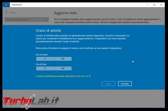 """Grande Guida Windows 10 """"Anniversary Update"""" (versione 1607, """"Redstone""""): tutto quello devi sapere - windows 1607 orario attività windows update"""