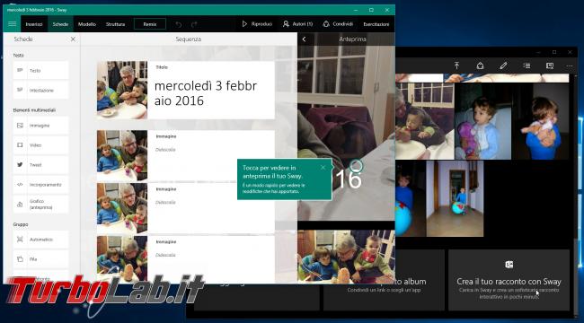 """Grande Guida Windows 10 """"Anniversary Update"""" (versione 1607, """"Redstone""""): tutto quello devi sapere - windows redstone integrazione foto sway"""