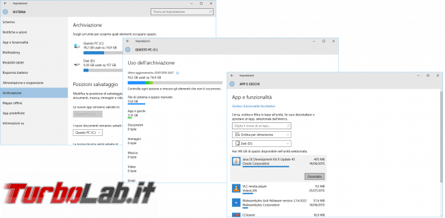Grande Guida Windows 10 - windows 10 archiviazione