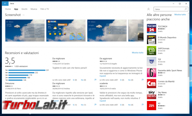 Grande Guida Windows 10 - windows 10 windows store