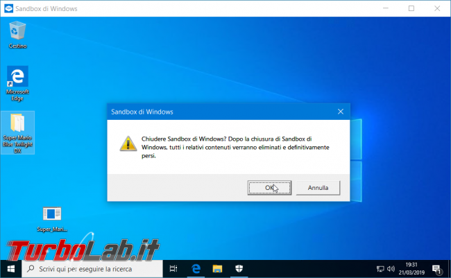 Grande Guida Windows Sandbox: come aprire / provare programmi sicurezza Windows 10 - zShot_Insider_1553193074