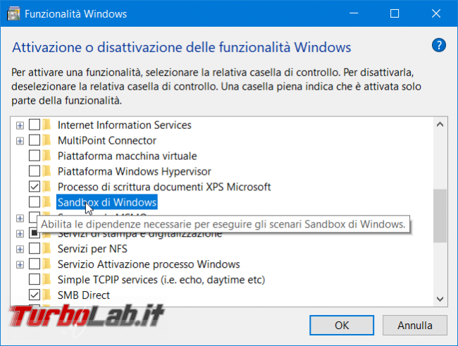 Grande Guida Windows Sandbox: come eseguire / provare programmi sicurezza Windows 10 - zShot_Insider_1553189913