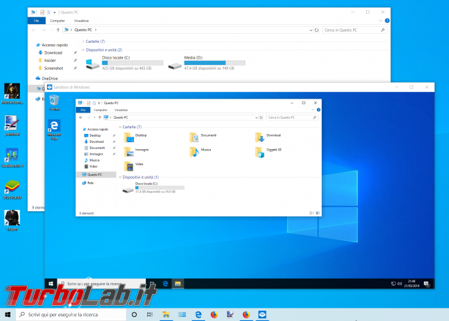 Grande Guida Windows Sandbox: come eseguire / provare programmi sicurezza Windows 10 - zShot_Insider_1553201369