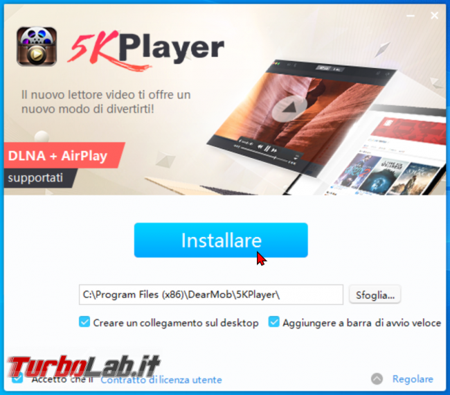 Guida 5KPlayer: lettore video H.264/H.265 file locali 4K/UHD, streaming, DLNA, AirPlay, download modifica - zShotVM_1590930673