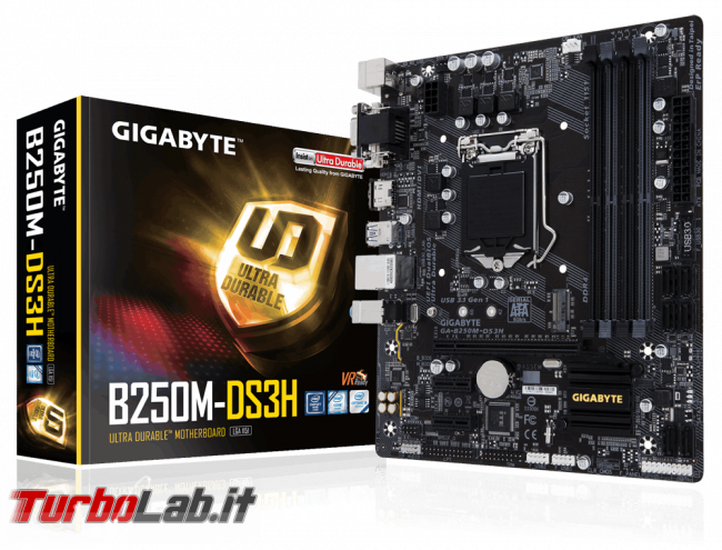 Guida acquisto: miglior PC budget [350 €] posso comprare (CPU, MoBo, RAM, SSD, case) - edizione Kaby Lake, primavera 2017 - Gigabyte GA-B250M-DS3H