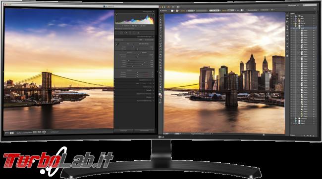 Guida acquisto: miglior schermo / monitor / display PC (portatile) posso comprare [23-27-34 pollici, FHD-WQHD-Ultrawide-4K, 150-700 €] - LG Monitor ultrawide 34uc88 Curvo