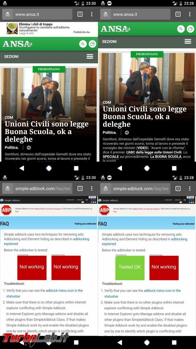 Guida Adblock Plus (ABP) Android: come bloccare pubblicità rete mobile (3G/4G LTE) senza root