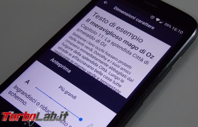Guida Android: come ingrandire caratteri testo troppo piccoli? - android testo ingrandimento smartphone hd 720p