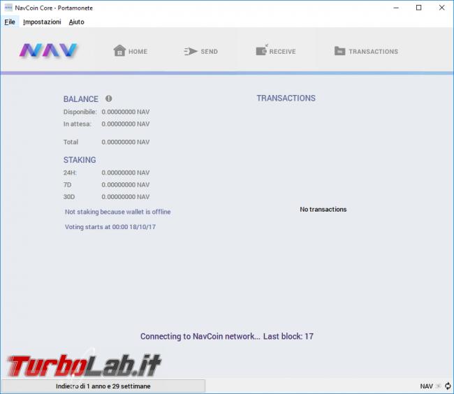 Guida backup wallet Nav Coin (NavCoin Core): come creare ripristinare copia sicurezza portamonete