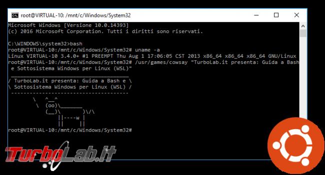Guida Bash Windows 10 (WSL): come eseguire programmi Linux/Ubuntu interfaccia grafica (GUI) - bash windows 10 spotlight