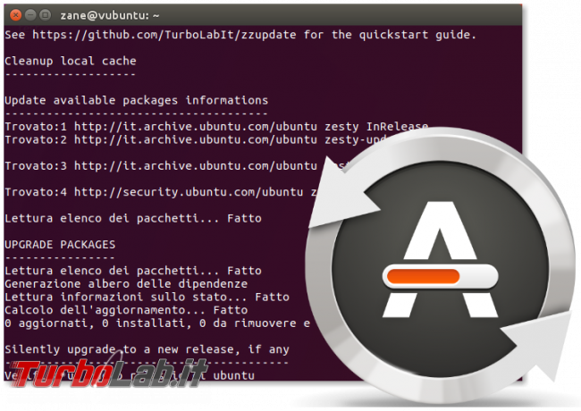 Guida: come aggiornare Ubuntu 21.04 Hirsute Hippo linea comando (terminale Ubuntu Server) - zzupdate spotlight