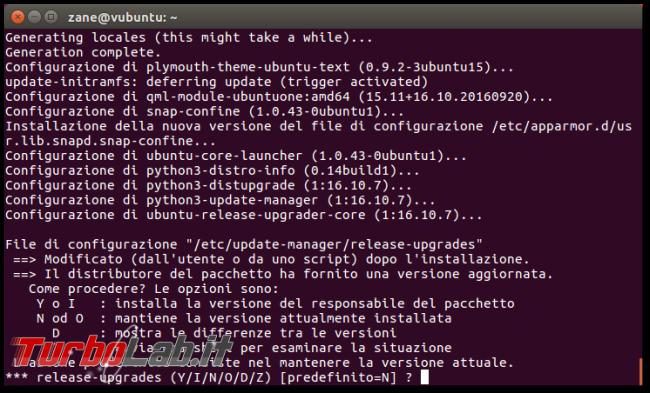 Guida: come aggiornare Ubuntu 21.10 Impish Indri linea comando (terminale Ubuntu Server) - Schermata del 2016-11-03 00-04-40