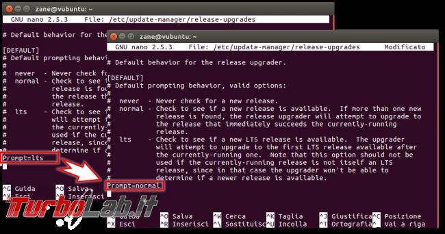 Guida: come aggiornare Ubuntu 21.10 Impish Indri linea comando (terminale Ubuntu Server) - ubuntu update manager nano