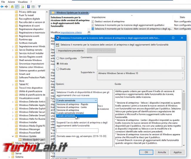 Guida: come bloccare aggiornamento automatico Windows 10 1909 (Novembre 2019) Home Pro