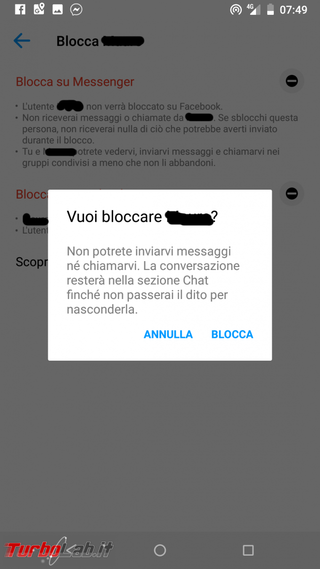 Guida: come bloccare persona Messenger Android - Screenshot_20190801-074933
