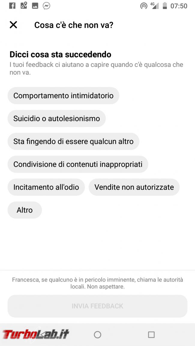 Guida: come bloccare persona Messenger Android - Screenshot_20190801-075031