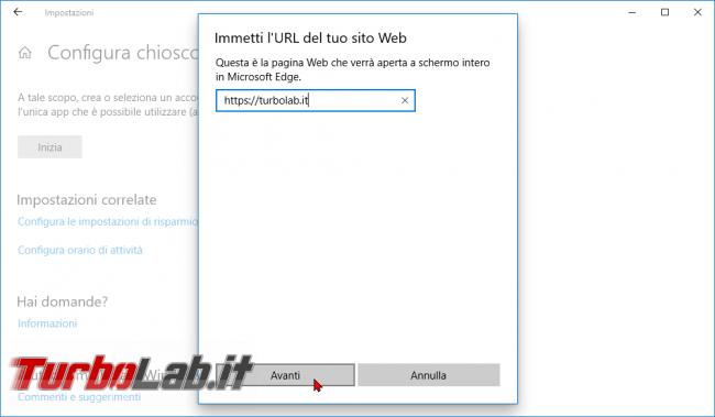 Guida: come creare punto informazioni Windows 10 (modalità chiosco, eseguire singola app fullscreen) - zShotVM_1551857714