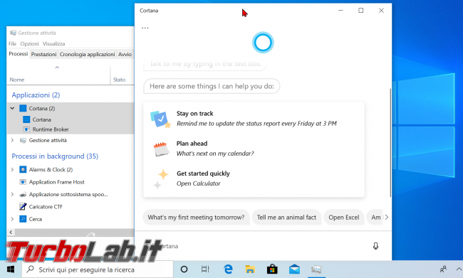 Guida: come disattivare Cortana Windows 10 2004 (Maggio 2020, bloccare Cortana.exe disinstallare app) - zShotVM_1591089373