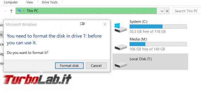 [guida] Come formattare disco (hard disk), SSD, chiavetta USB scheda SD Windows 10