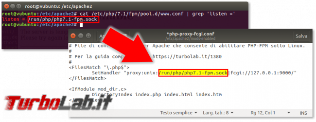 Guida: come installare PHP 7 (PHP-FPM) Linux (Ubuntu/CentOS) - apache_proxy_socket