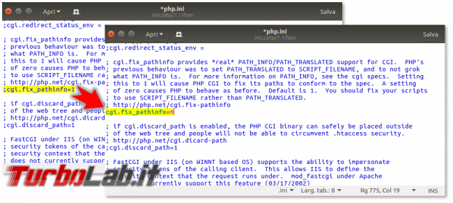 Guida: come installare PHP 8 Linux Ubuntu CentOS (PHP-FPM) - fix_pathinfo-secured