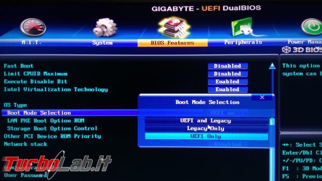 [guida] Come installare Windows 10 hard disk SSD GPT GUID Partition Table - BIOS abilita UEFI legacy (1)