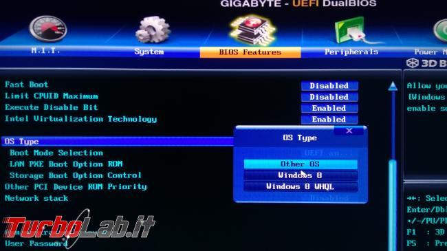 [guida] Come installare Windows 10 hard disk SSD GPT GUID Partition Table - BIOS abilita UEFI legacy (2)