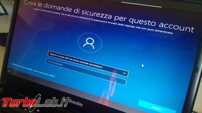 Guida: come installare Windows 10 senza account Microsoft (utente locale, offline), quando opzione non si vede - IMG_20190825_102659