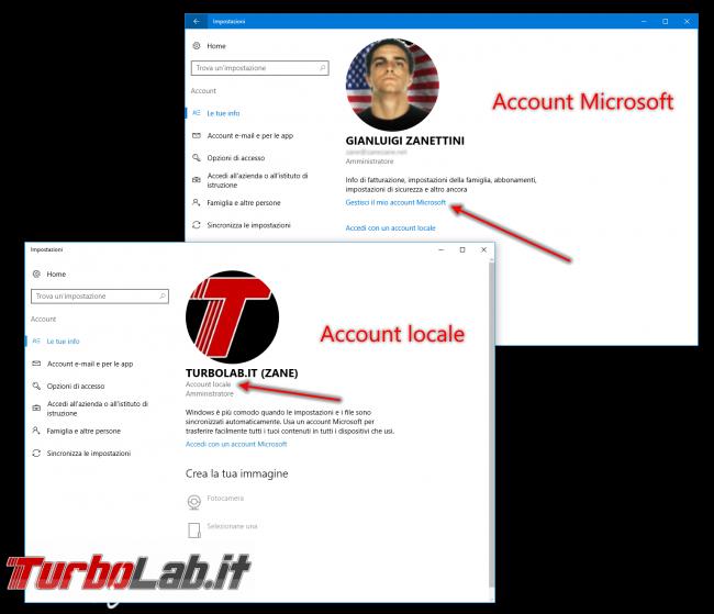 Guida: come installare Windows 10 senza account Microsoft (utente locale, offline) - windows 10 account locale account Microsoft