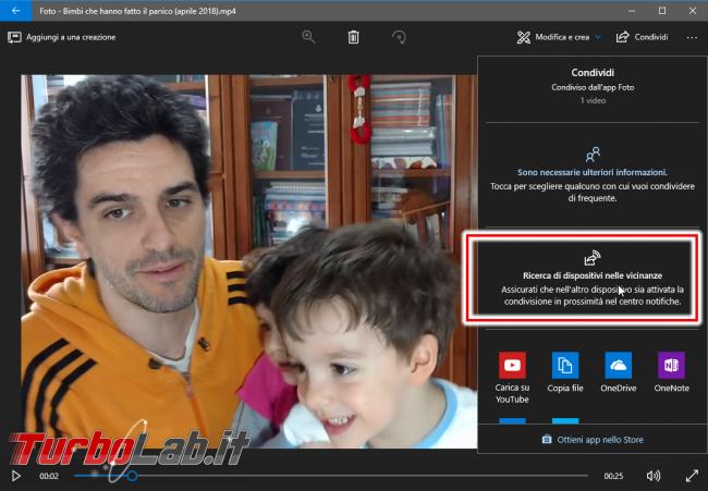 Guida: come inviare file PC Windows 10 Bluetooth Wi-Fi diretto (Condivisione prossimità) - Condivisione in prossimità