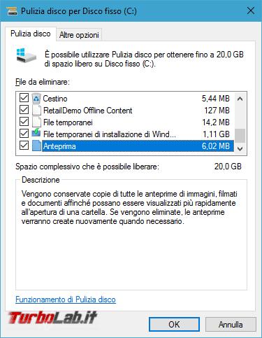 Guida: come liberare 20 GB spazio disco dopo aggiornamento Windows 10 1903 (Maggio 2019) - pulizia amministratore