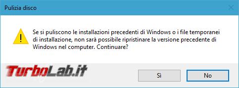 Guida: come liberare 20 GB spazio disco dopo aggiornamento Windows 10 1909 (Novembre 2019)