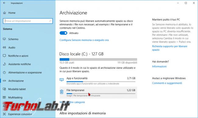 Guida: come liberare 20 GB spazio disco dopo aggiornamento Windows 10 1909 (Novembre 2019) - zShotVM_1553499104