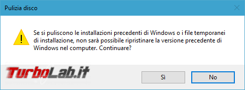 Guida: come liberare 20 GB spazio dopo aggiornamento Windows 10 1709 Fall Creators Update