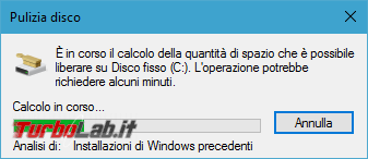 Guida: come liberare 20 GB spazio dopo aggiornamento Windows 10 1709 Fall Creators Update - pulizia disco analisi