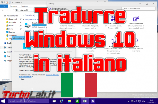 Guida: Come tradurre Windows 10 italiano - windows italiano spotlight