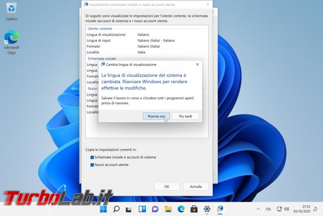 [guida] Come tradurre Windows 11 italiano (installare pacco lingua Windows 11 ITA)