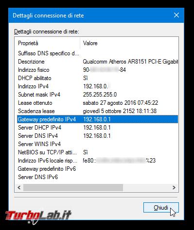 Guida: come trovare indirizzo IP modem/router L/mobile/4G aprire pagina configurazione - proprietà connessione gateway predefinito