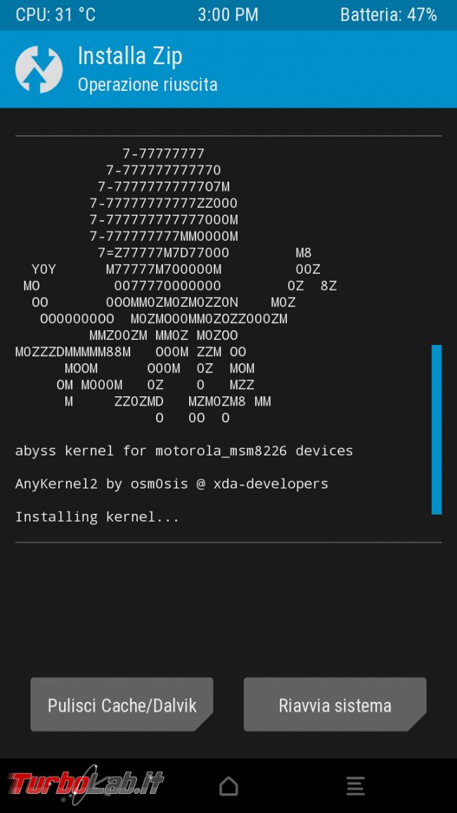 Guida completa: come perché installare nuovo kernel smartphone Android (cosa significa Governor, Hotplug Scheduler) - Screenshot_2016-12-27-15-00-50