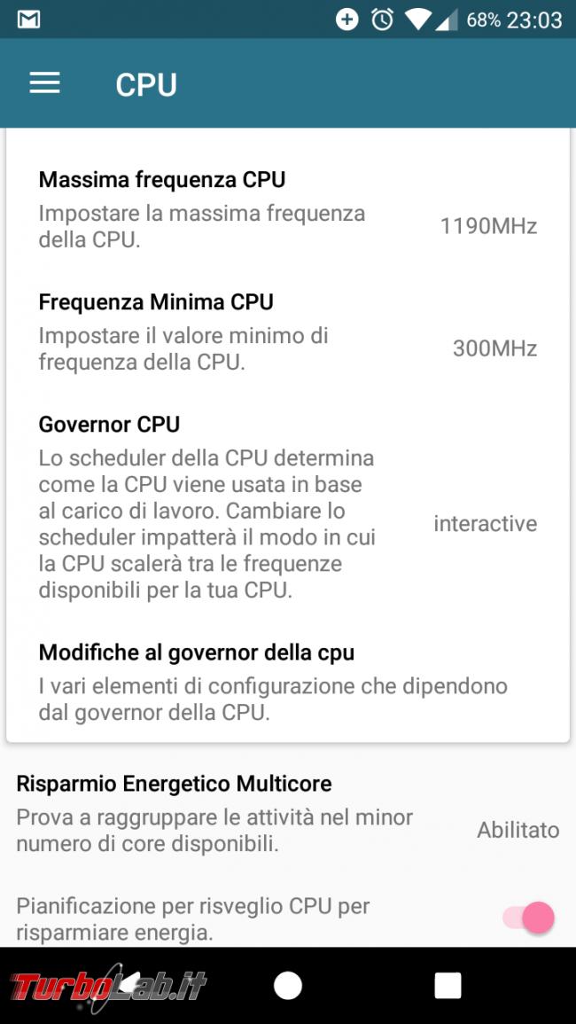 Guida completa: come perché installare nuovo kernel smartphone Android (cosa significa Governor, Hotplug Scheduler) - Screenshot_20161228-230326