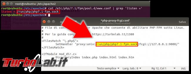 Guida definitiva Apache PHP 8 Ubuntu CentOS: come attivare, installare, configurare PHP-FPM Apache Linux - apache_proxy_socket