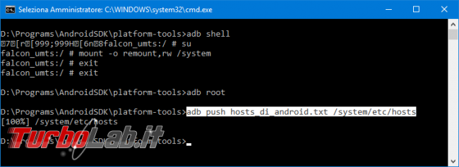 Guida definitiva: come modificare file hosts Android tramite PC (senza errori adb: error: failed to copy 'hosts' to '/system/etc/hosts': couldn't create file: Read-only file system oppure Permission denied)